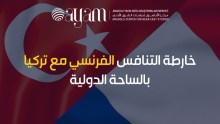 صورة إنفوجرافيك | خارطة التنافس الفرنسي مع تركيا بالساحة الدولية