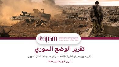 صورة الوضع السوري الشهري – تشرين الأول/أكتوبر 2020
