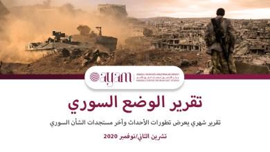 صورة تقرير الوضع السوري / تشرين الثاني/نوفمبر 2020