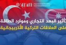 صورة تأثير البعد التجاري وموارد الطاقة على العلاقات التركية الأذربيجانية