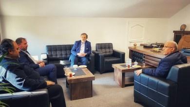 صورة استقبال رئيس الهلال الأحمر التركي
